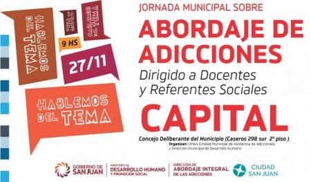 Jornada sobre el abordaje de adicciones para referentes sociales de Capital