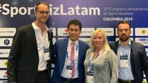 En Colombia, el secretario Jorge Chica presentó al mundo la Vuelta a San Juan