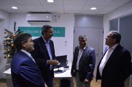 El ministro Astudillo recorrió las nuevas oficinas de una empresa minera