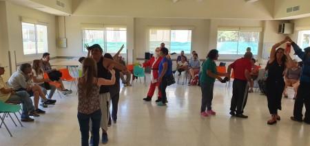 Momentos de alegría entre pacientes, trabajadores y visitantes, en el ex hospital Mental de San Juan