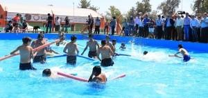 Con natatorio nuevo, inauguraron las colonias de verano en 25 de Mayo
