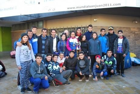 Los campeones argentinos llegaron a San Juan