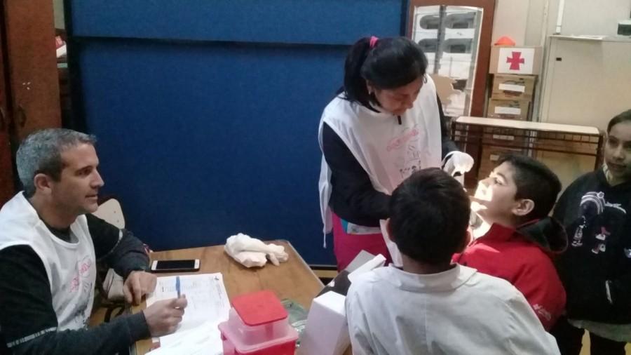 El equipo PROSANE en pleno trabajo en la escuela de Educación Especial Carolina Tobar García