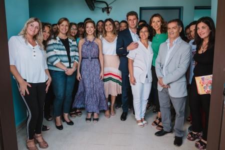 Fabiola Yáñez visitó el centro de salud Las Margaritas para conocer el programa Mil Días