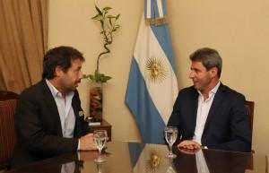 Sergio Uñac recibió a Ricky Sarkany, quien llegó para disertar sobre empresas familiares
