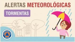 Alerta meteorológica N° 68 - Tormentas