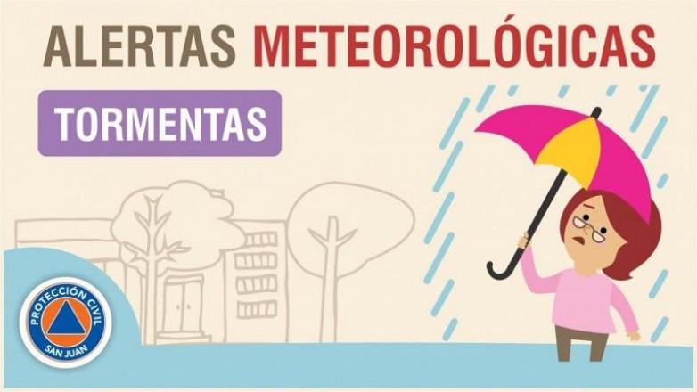 Alerta meteorológica N°05/20 - Tormentas