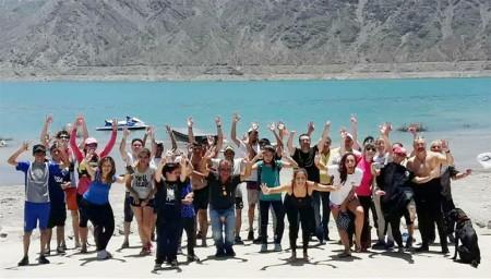 Personas con discapacidad realizaron buceo adaptado en Punta Negra