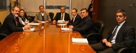 Reunión del ministro de Hacienda con el Fiscal de Estado