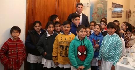 Alumnos de San Martín visitaron la Casa de Gobierno