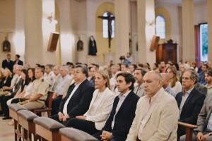 En la iglesia de Santo Domingo se recordó a las víctimas del terremoto de enero de 1944