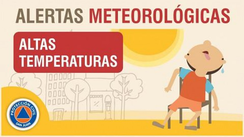 Alerta meteorológica Nº 7/20 - Altas temperaturas