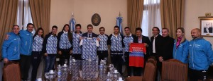 Uñac recibió deportistas sanjuaninos que participaron de los Panamericanos