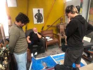 Pintores sanjuaninos intercambian experiencias con el afamado artista Eugenio Cuttica