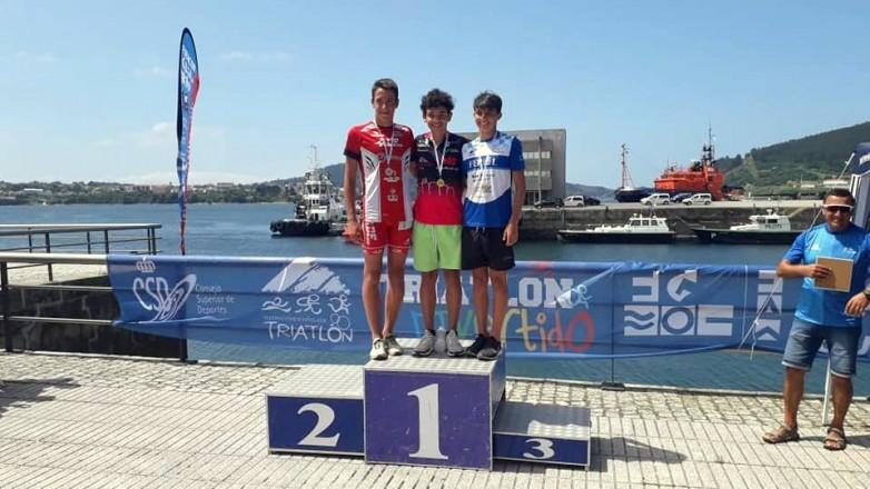 Thomas Castañeda ganó el Triatlón de Ferrol, en España