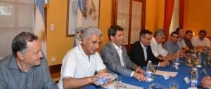Reunión de autoridades provinciales con intendentes