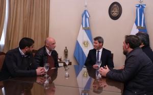 Sergio Uñac recibió la visita de autoridades del sector judicial