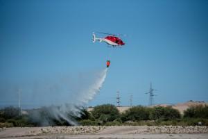 El helicóptero de la Provincia recibió habilitación para combatir incendios forestales