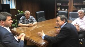 El gobernador Uñac recibió la visita de legisladores nacionales
