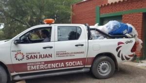 Los damnificados por las intensas lluvias recibieron asistencia del Estado