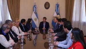 Uñac recibió a la presidente de Scouts de Argentina, Marina Rustán