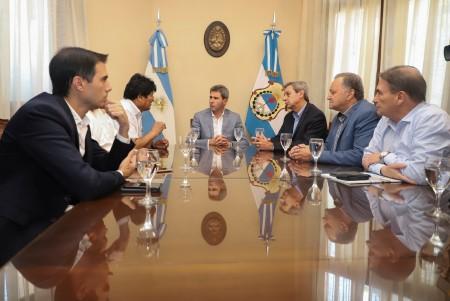 Sergio Uñac recibió a Evo Morales
