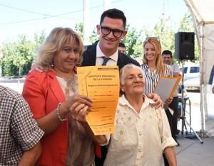 Pocito tiene 55 nuevas familias con su vivienda escriturada