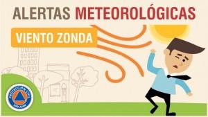 Alerta Meteorológica Nº 65 - Viento Zonda en cordillera