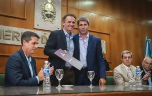 Tras la firma de convenios, reactivarán obras públicas nacionales claves para San Juan