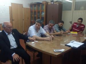 Reunión en el marco del 1° Seminario Tecnológico de Soldadura para el sector minero