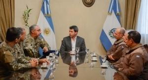 El Jefe del Estado Mayor del Ejército se reunió con el gobernador