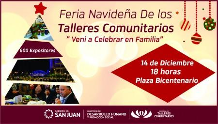 Feria de Talleres Comunitarios: ideal para la compra de regalos en esta Navidad