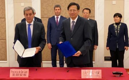 Gestiones de Uñac en China para fortalecer el intercambio comercial, turístico, educativo y minero