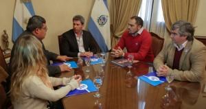 Dirigentes del Sindicato Jerárquico Minero fueron recibidos por Uñac