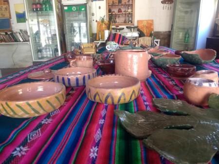 Un horno comunitario, lugar de encuentro de ceramistas en Las Tumanas