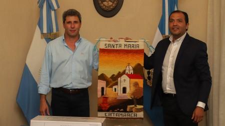 Uñac recibió al intendente de Santa María de Catamarca