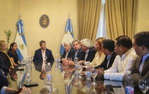 Uñac recibió a empresarios peruanos que participan de la Misión Comercial Inversa