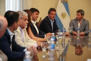 Uñac recibió al presidente de la Cámara de Diputados de la Nación, Sergio Massa