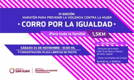 Se correrá IV edición de la maratón para prevenir la violencia contra la mujer
