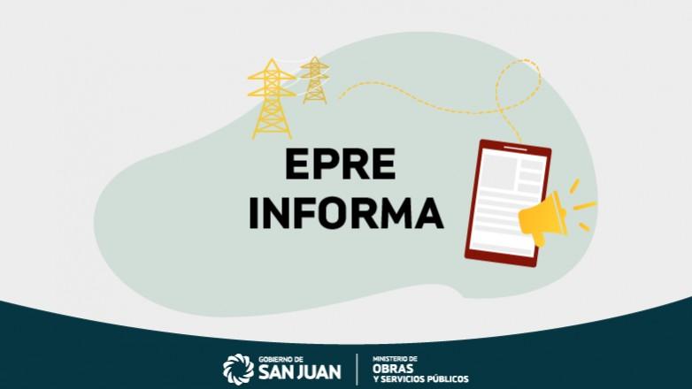 EPRE informa abstención de cortes eléctricos para pequeños y medianos emprendimientos productivos