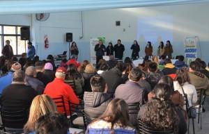 El SUM de la escuela San Martín en Jáchal estuvo completo para el Curso de Manipulación de Alimentos. Fotos: Facundo Quiroga