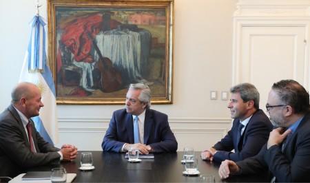 Alberto Fernández se reunió con Sergio Uñac para analizar un proyecto minero que generará más de 4 mil empleos