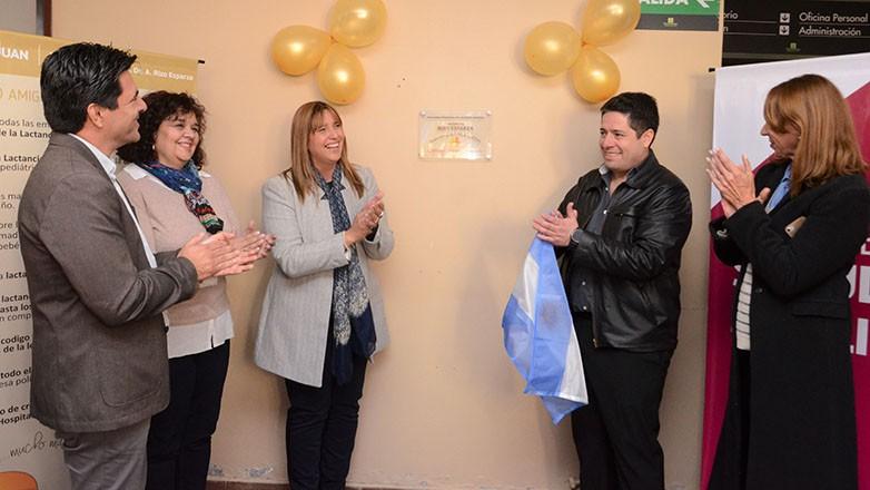 """El hospital Rizo Esparza luce orgulloso su certificación como """"Centro Amigo de la Madre y el Niño"""". Fotos: Facundo Quiroga"""