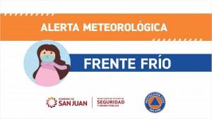 Alerta meteorológica N° 14/2020 – Frente frío