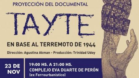 Presentarán un documental con testimonios inéditos sobre el terremoto de 1944