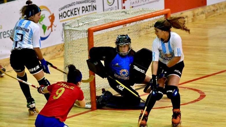 Las preselecciones argentinas de hockey sobre patines entrenan en el Aldo Cantoni
