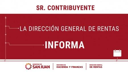 DGR San Juan: calendario de vencimientos 2020