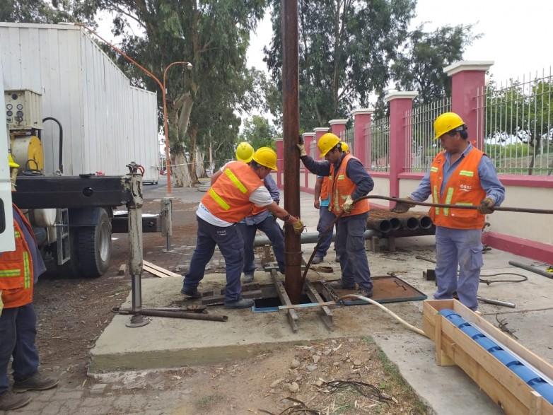 Siguen los trabajos para mejorar el servicio de agua potable en Villa Krause