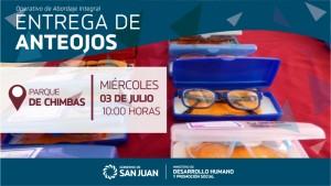 Desarrollo Humano concretará una nueva entrega de anteojos a vecinos de Chimbas