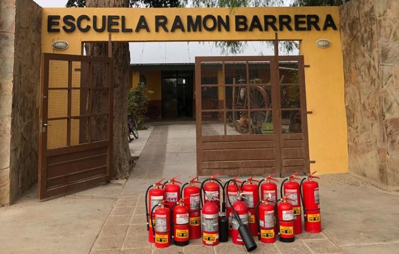 Optimizan e incorporan equipos para la prevención de incendios en los edificios educativos